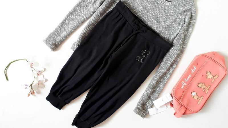 Черные бриджи капри длинные шорты со снуппи