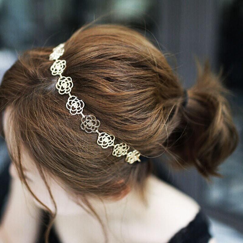 Новый ободок украшение для волос на резинке золотистый  ободок...
