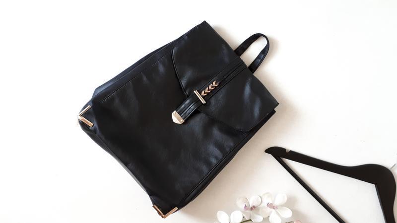 Черный рюкзак atmosphere из кожзама