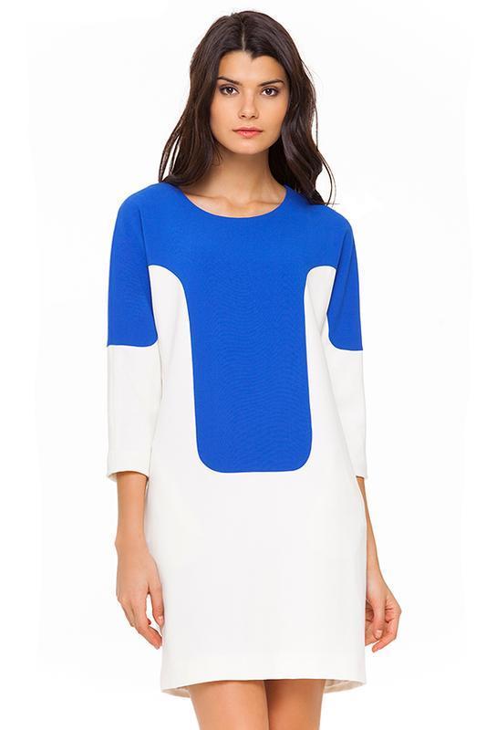 Платье на осень колор блок Kira Plastinina свободный фасон