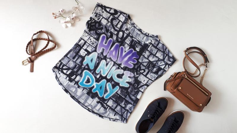 Женская футболка Terranova с надписью Have a nice day