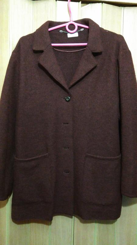 Теплый шерстяной пиджак кардеган