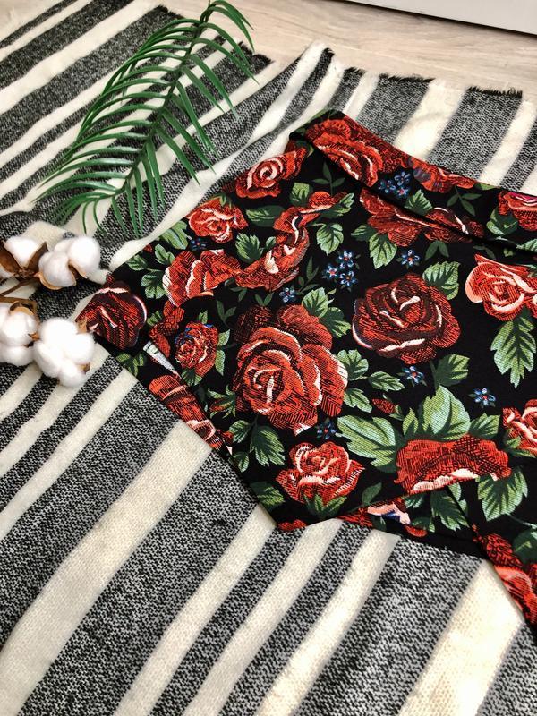 Юбка шорты в цветочный принт