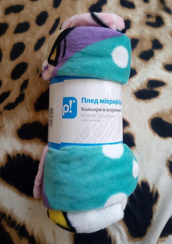 Новый детский плед/одеяло микрофибра 125x150 см. - Фото 5