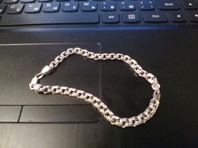 Браслет серебряный плетение бисмарк 11, 38 грамм