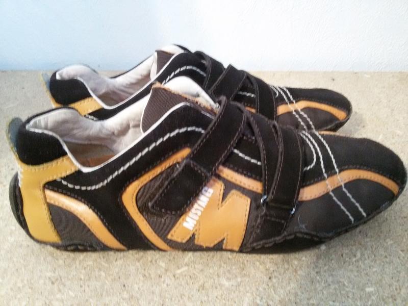 Шикарные кроссовки, мокасины mustang 39р