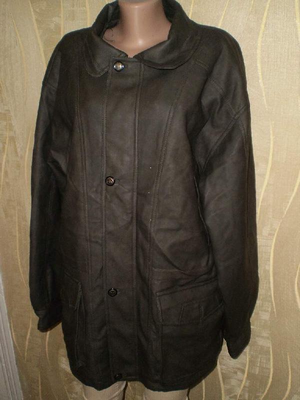 Куртка деми кожа pu 54-56р.
