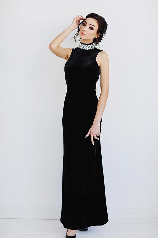 Шикарное велюровое платье charlotte halton р.евро 36