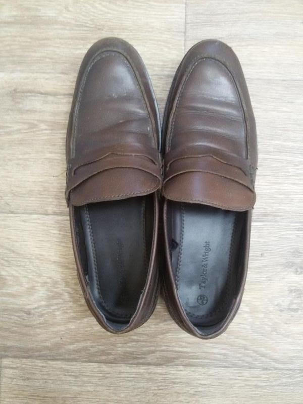 Шикарные кожаные туфли taylon wright