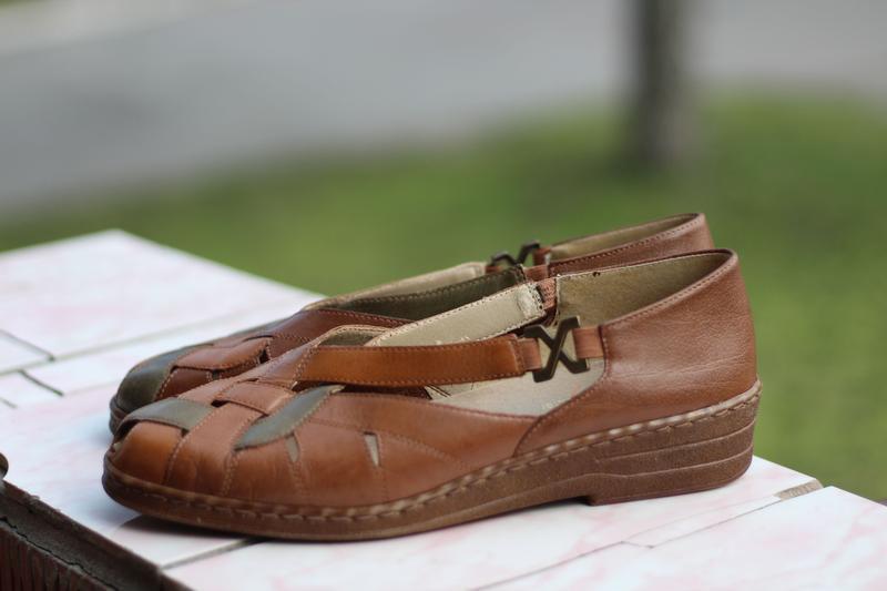 Стильные кожаные босоножки jana - Фото 3