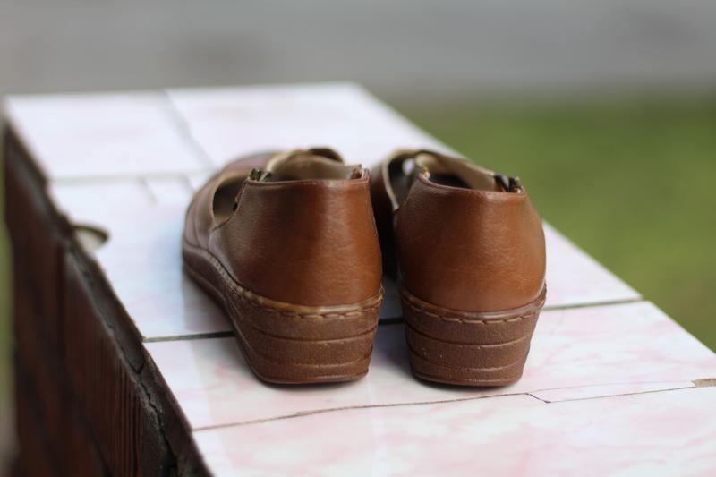 Стильные кожаные босоножки jana - Фото 4