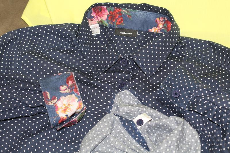 Стильная блуза, рубашка в горошек walbusch