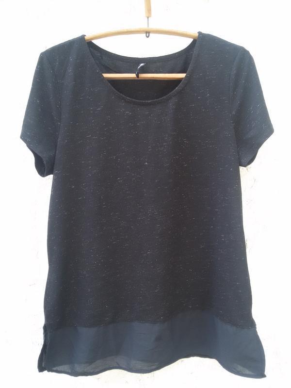 Стильная футболка с шифоном flame
