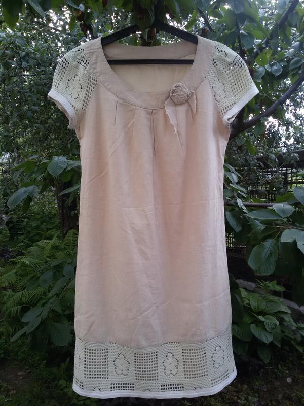 Шикарное платье из натурального хлопка