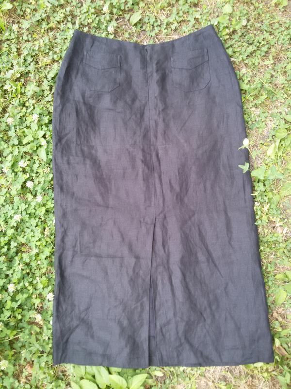 Шикарная  длинная юбка лен brookshire