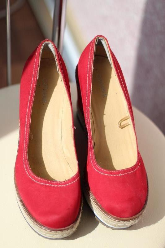 Яркие стильные туфли catwalk