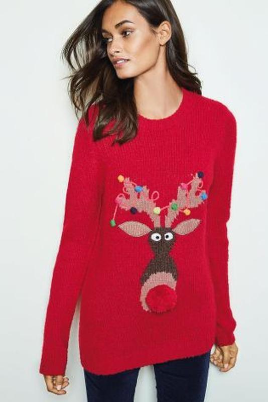 Оригинальный новогодний свитер кофта next