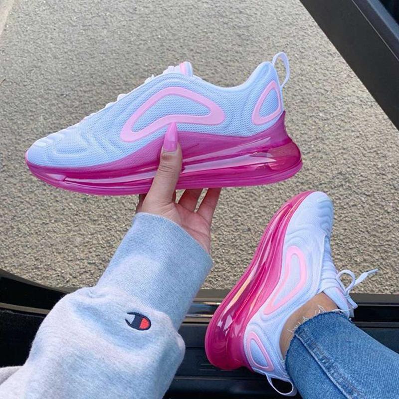 Женские кроссовки nike air max 720 pink white, найк, демисезон... - Фото 2