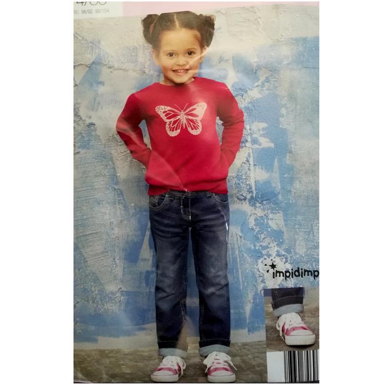 Термо джинсы для девочки 74-80 impidimpi, германия, светло-синие