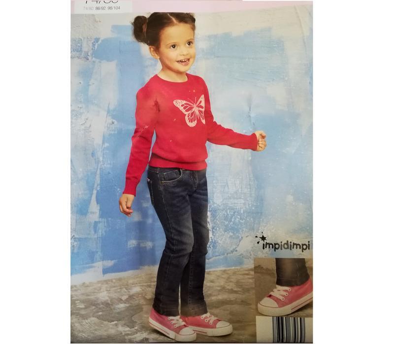 Термо джинсы на девочку 74-80 impidimpi, германия, темно-синие