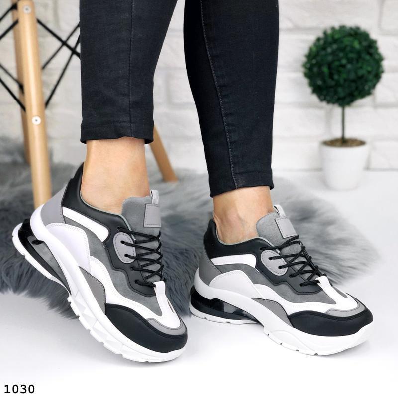 Стильные кроссовки на массивной подошве - Фото 2