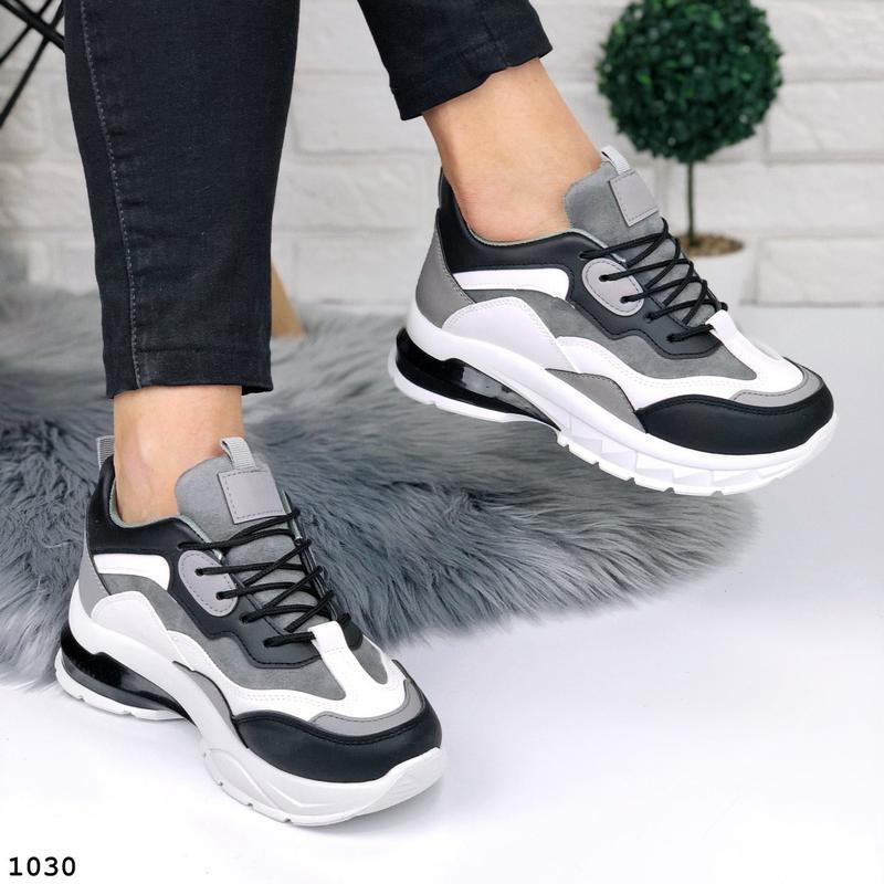 Стильные кроссовки на массивной подошве - Фото 7
