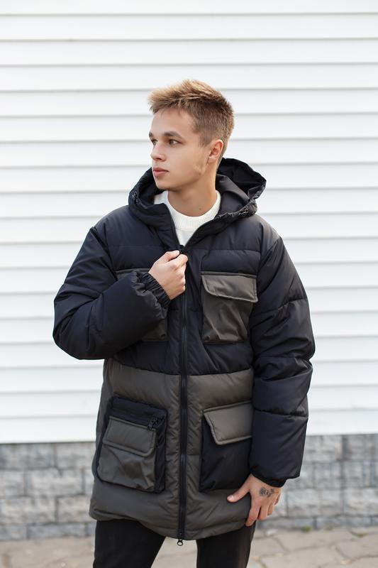 Мужская зимняя куртка/пуховик - Фото 4