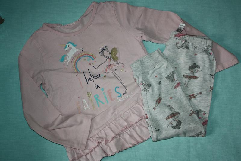 Милашная котоновая пижама ф.primark для девочки от 3до 5лет,р-...