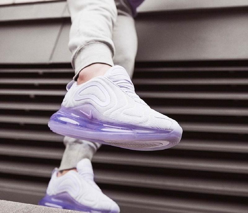 Женские кроссовки nike air max 720 violet white, демисезонные - Фото 2