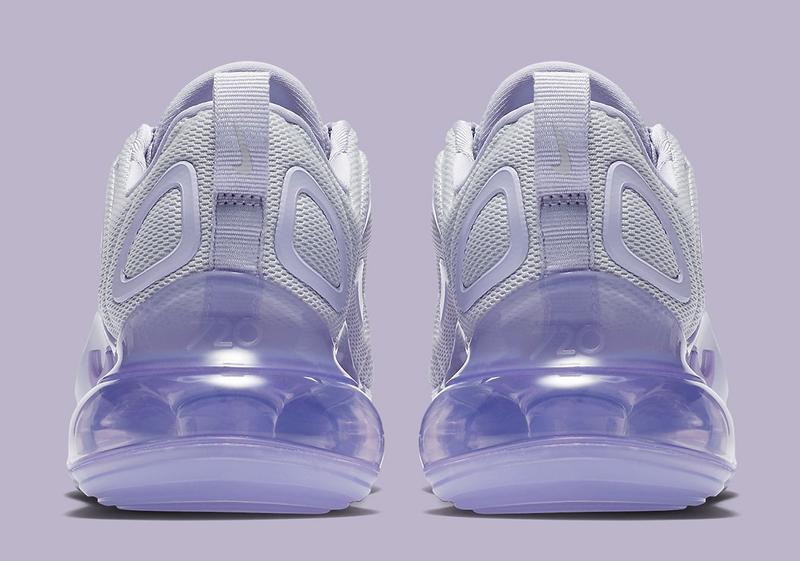 Женские кроссовки nike air max 720 violet white, демисезонные - Фото 3