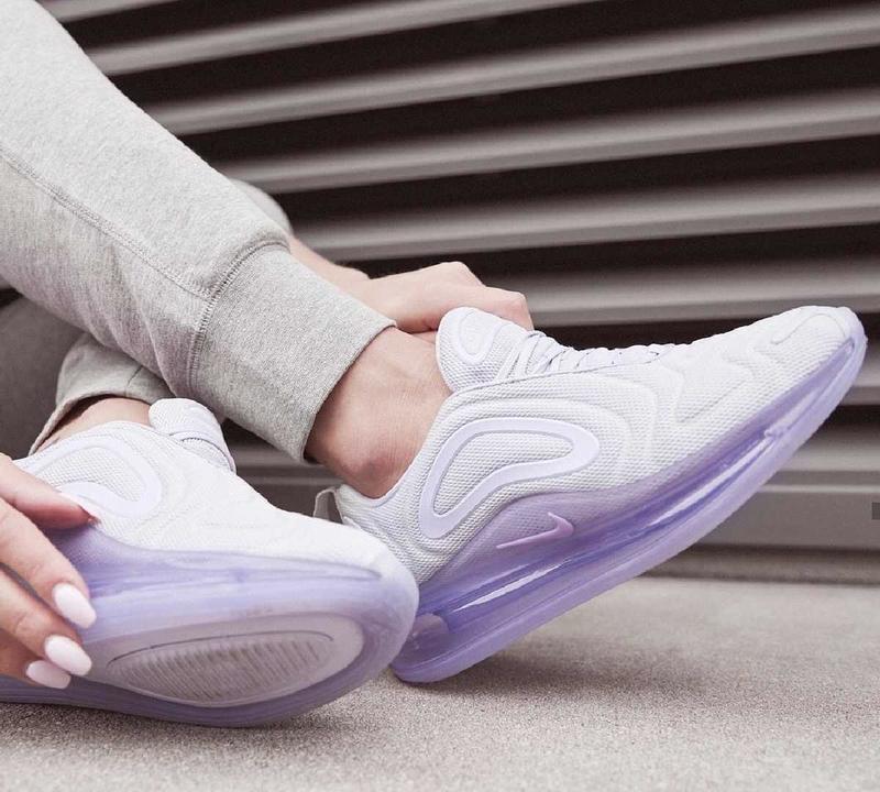 Женские кроссовки nike air max 720 violet white, демисезонные - Фото 9