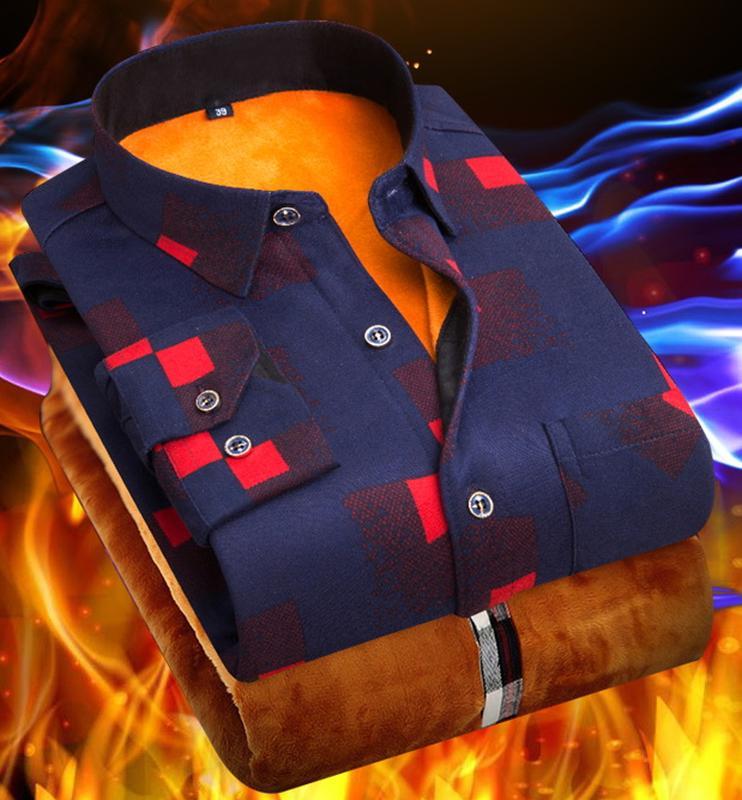Мужская рубаха чоловіча рубашка тепла теплая утепленная сорочка