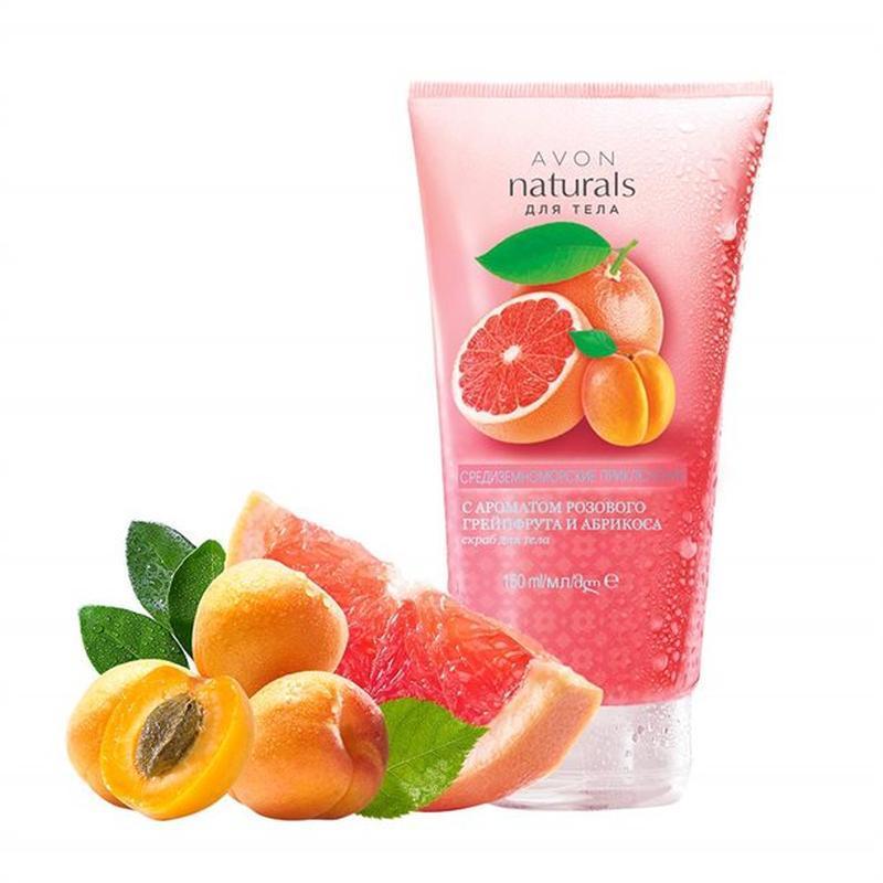 Скраб для тела с ароматом розового грейпфрута и абрикоса avon ...