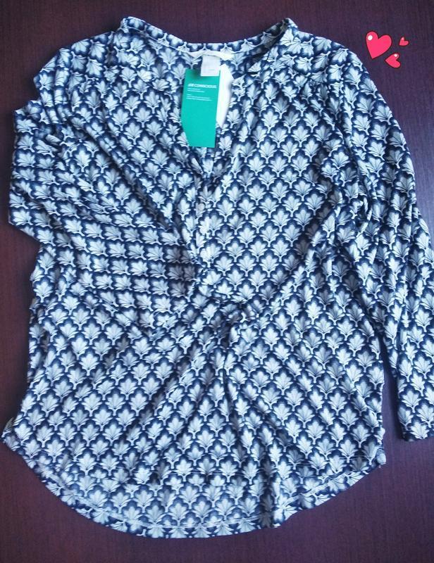 Трикотажная блуза, рубашка в принт