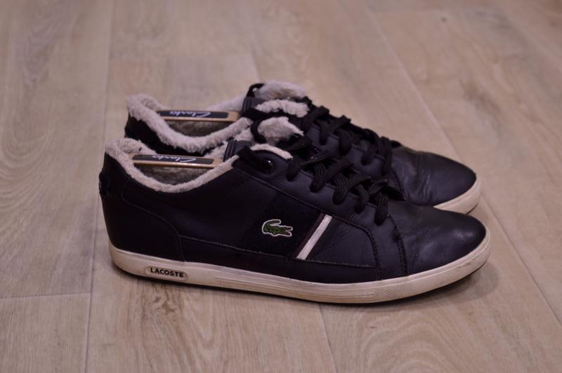Lacoste мужские кожаные кроссовки зимние оригинал