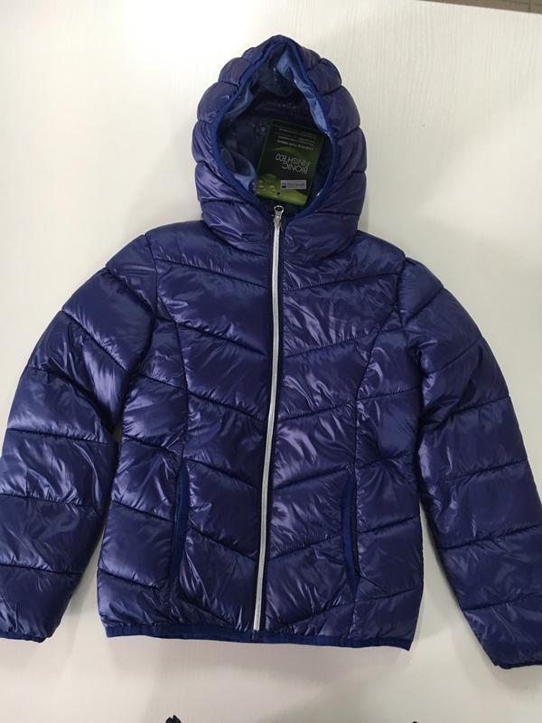Куртка демі з капішоном для дівчинки. pocopiano. р.128,140. ні... - Фото 2