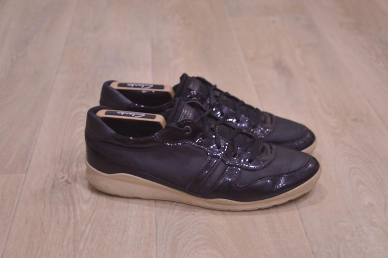 Ecco мужские кожаные кроссовки оригинал осень