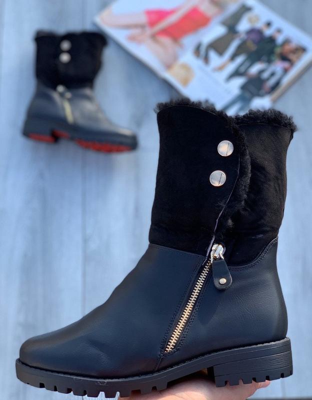 Натуральный мех*ботинки зима*полномерные*