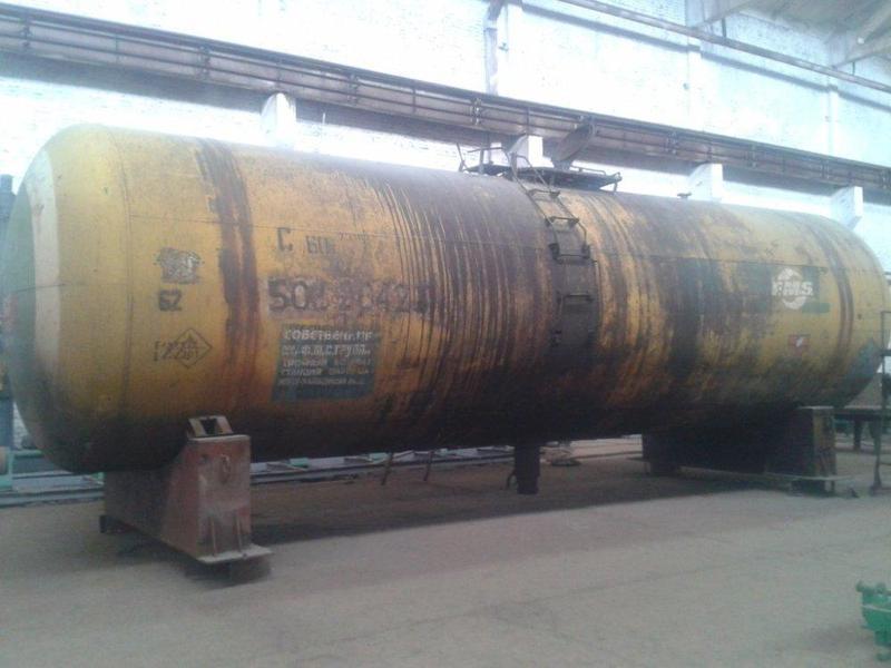 Ж/д цистерна Емкость Резервуар 73 куба (стенка 10 mm) для КАС,...