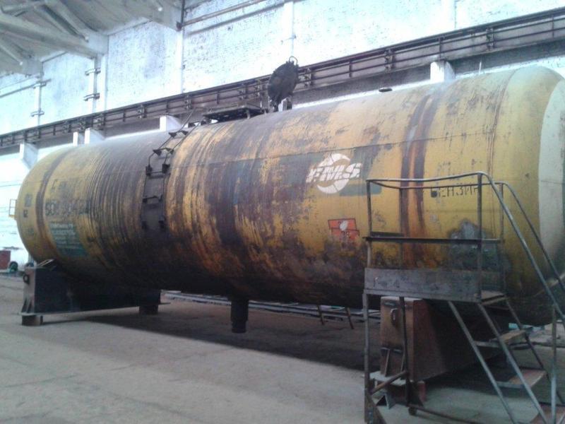 Ж/д цистерна Емкость Резервуар 73 куба (стенка 10 mm) для КАС,... - Фото 2