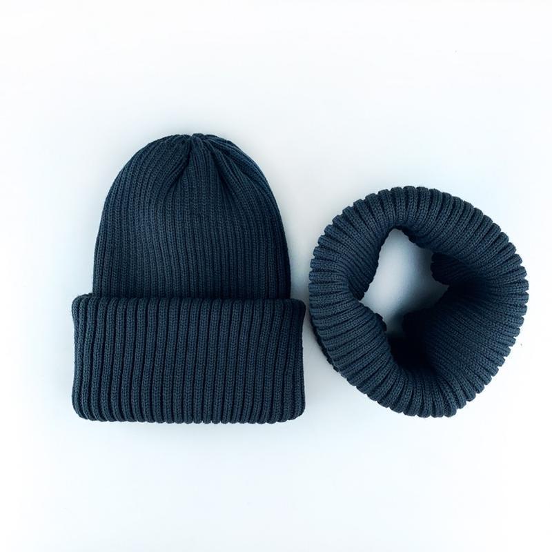 Комплект набор джинс шапка + хомут шерсть