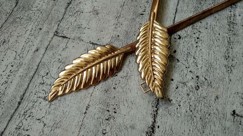 Золотистый пояс/резинка  на талию, металл - Фото 3