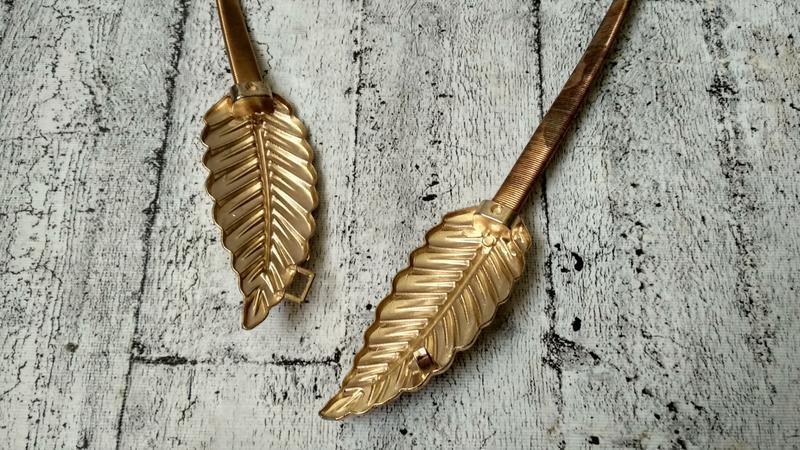 Золотистый пояс/резинка  на талию, металл - Фото 4
