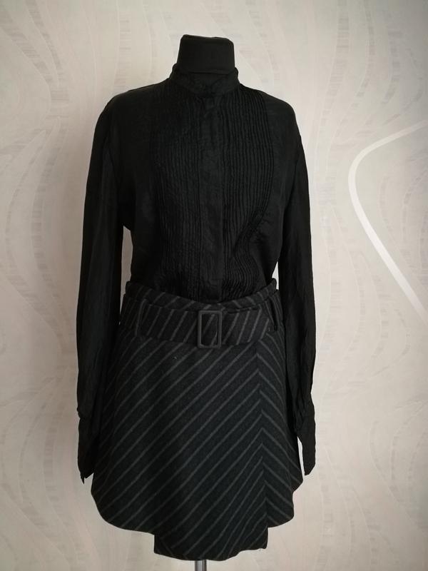 Стильная шерстяная юбка на запах