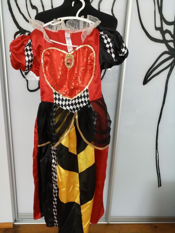 Карнавальный, костюм на хеллоуин красная королева, злая мачеха