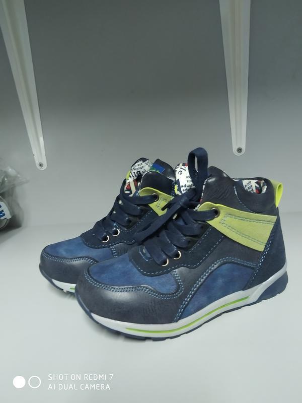Демисезонные ботинки мальчику р.28-18 см, clibee p-173 blue