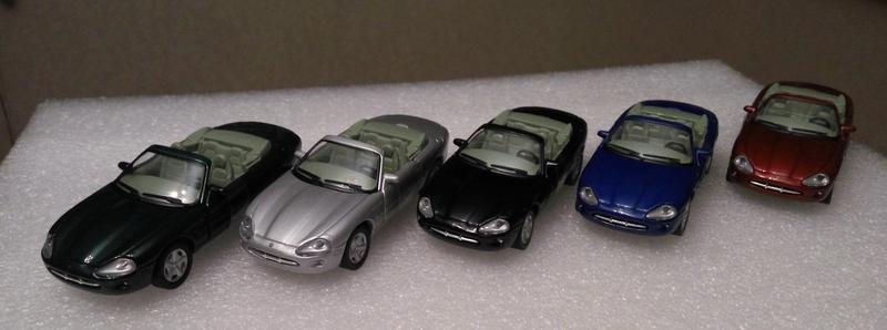Модели Jaguar XK 1996, Cararama/Hongwell, масштаб 1:43