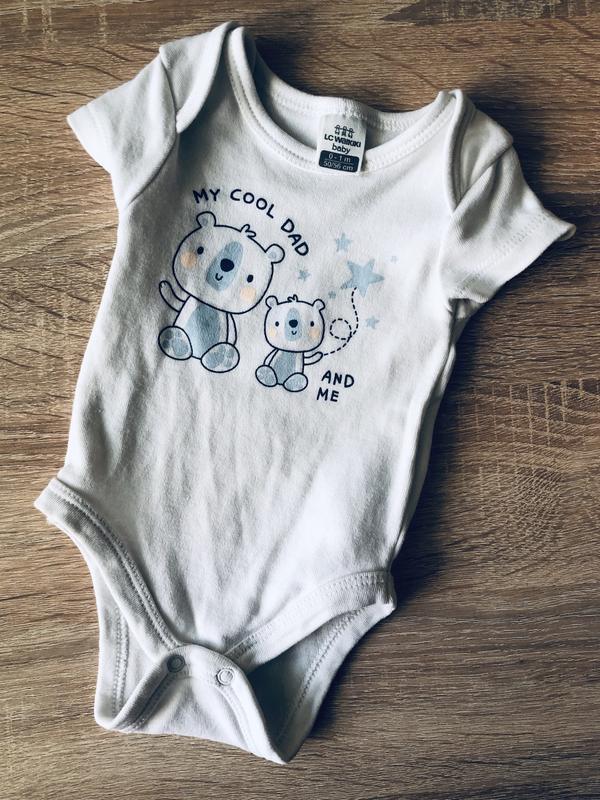 Боди с коротким рукавом lc waikiki для новорождённого 50-56 см...