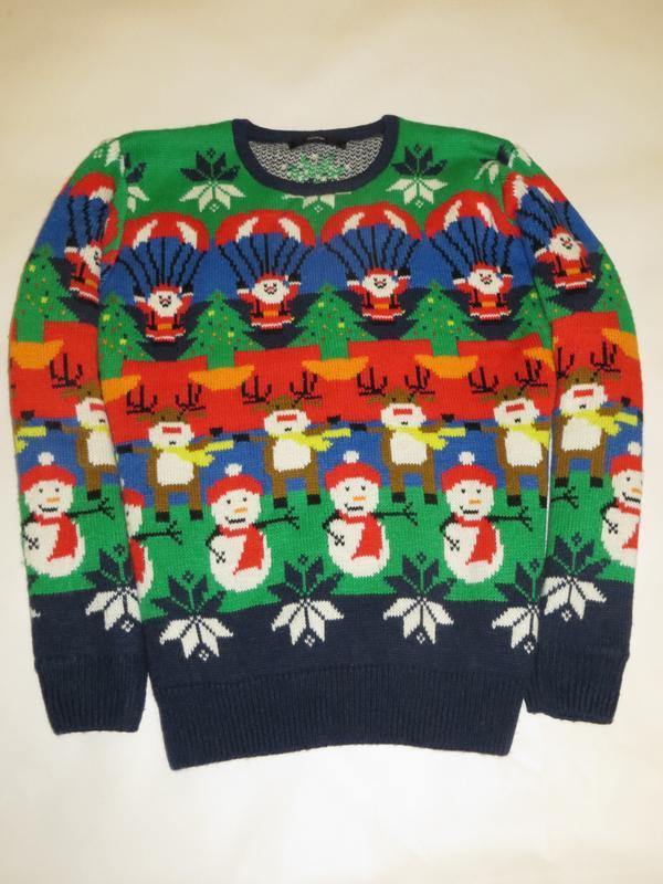 Яркий новогодний свитер 11-12лет