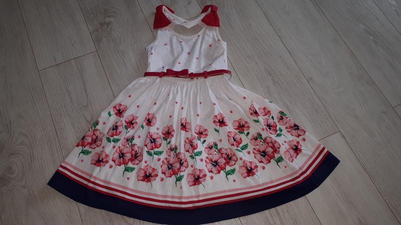 Нарядное платье  цветочный принт 122-132